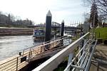Přístav u Lannovy loděnice České Budějovice. Plavební sezona 2021 začala 24. dubna.