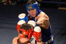 Marcel Kopečný v zápase boxerů Samsonu s Prostějovem (12:6) nečekaně vybodoval favorizovaného Vardana Baseljana.