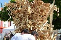 Interaktivní socha k výstavě ve Freistadtu.