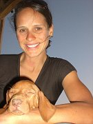 Kateřina Nashová se psím miláčkem Rubim