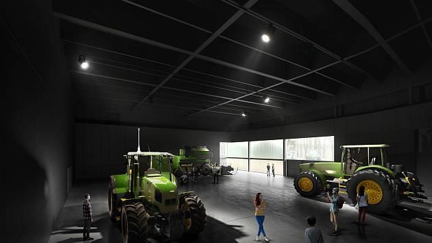 Vizualizace pavilonu Z z dílny ateliéru A8000.