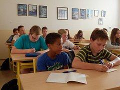 První školní den na Gymnáziu Trhové Sviny.