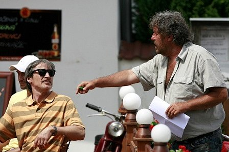 Martin Stropnický při natáčení filmu Babovřesky 2.