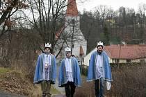 Tříkrálová sbírka v Boršově nad Vltavou.