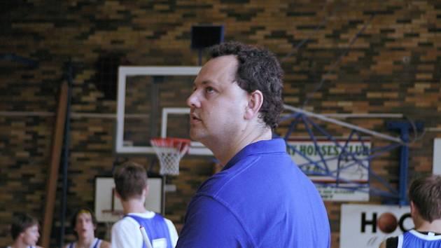 Šéftrenér basketbalistů BSK České Budějovice Marek Kos