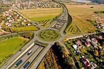 Vizualizace dálnice D3 - úsek u Hodějovic.