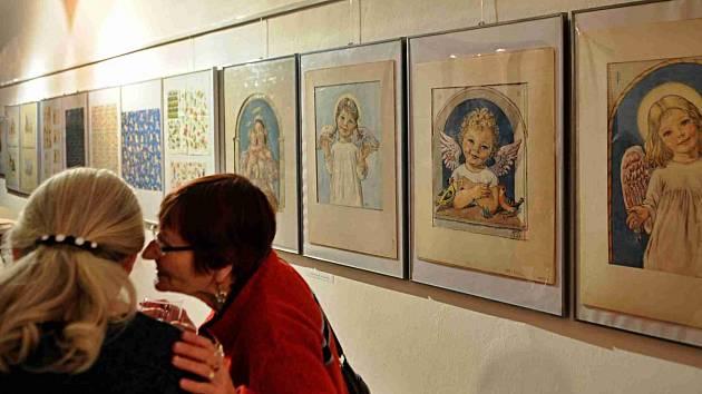 Prácheňské muzeum v Písku připomíná ilustrátorku Karafiátových Broučků, Marii Fischerovou Kvěchovou.