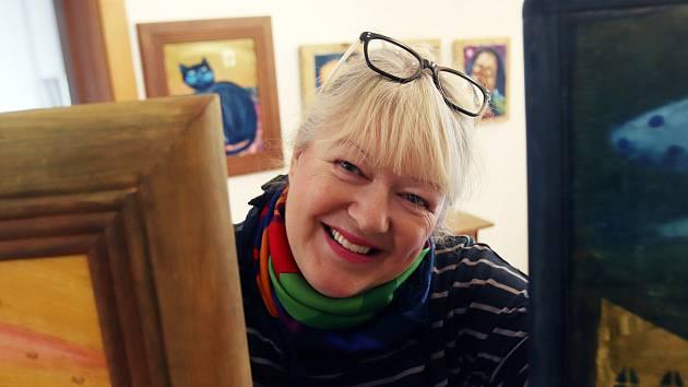 Renata Štolbová vystavuje v Českých Budějovicích.