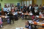 První školní den v ZŠ Kamenný Újezd.