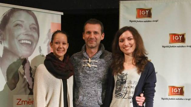 S Petrem Havlíčkem se díky projektu Změňte svůj život v IGY setkala i Adina Dvořáková (vlevo) a Kateřina Vokálová.
