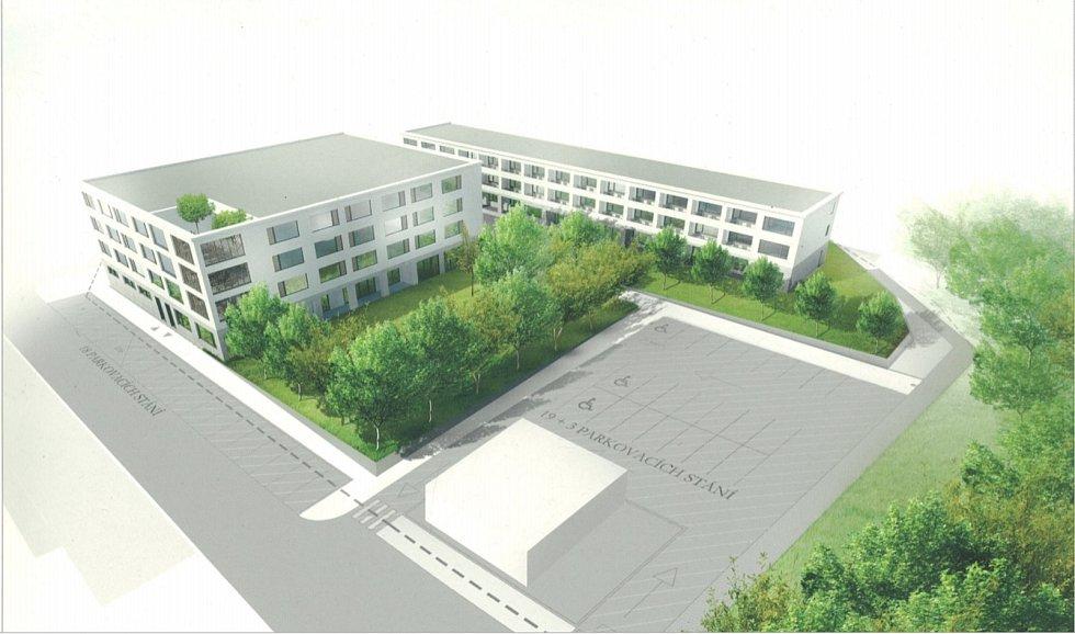 V Táboře pokračuje výstavba senior centra za 240 milionů korun. Foto: archiv města Tábor