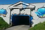 Street art na sídlišti Máj.