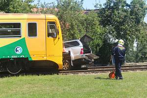 Nehoda v Mačkově na Strakonicku 30. července 2020.