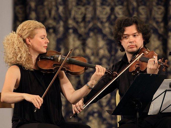 Pavel Haas Quartet koncertoval 15.srpna na českokrumlovském Mezinárodním hudebním festivalu.