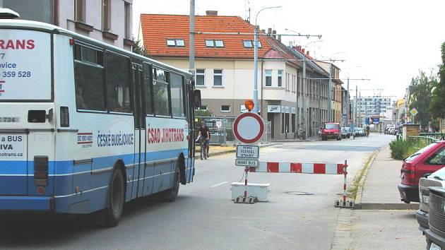 Dobrovodská ulice v Českých Budějovicích.