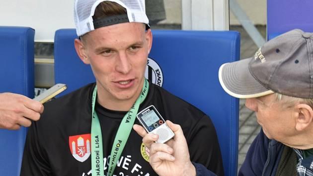 Lukáš Provod po zápase Dynama s Varnsdorfem (3:0) odpovídá na dotazy Deníku jižní Čechy.