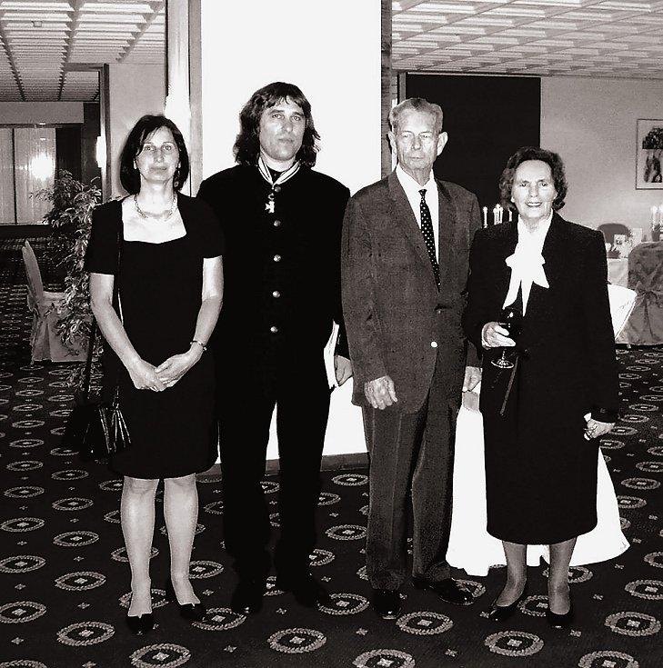 S manželkou Dagmar, s rumunským králem Michalem a královnou Annou.