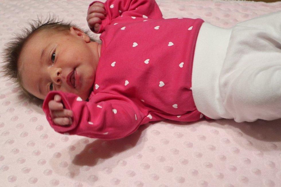 Sofie Straková ze Soběšic se narodila 14. 12. 2020 v 5.25 h. Vážila 3,32 kg a měřila 47 cm. Šťastnými rodiči jsou Andrea Kouřimová a Michal Straka.