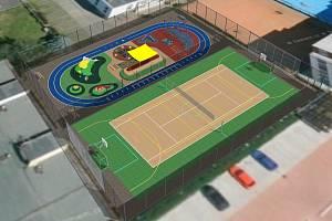 Takhle by měla vypadat dvě nová hřiště v areálu českobudějovického SK Pedagog.