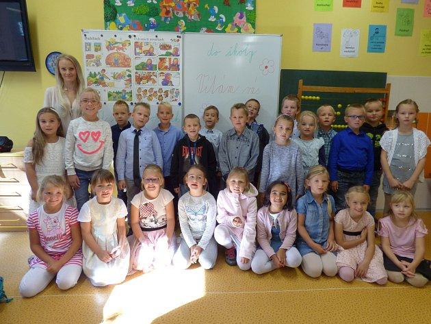 Představujeme prvňáky ze Základní školy vHluboké nad Vltavou -1.A