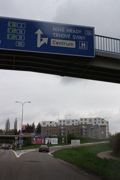 Objízdná trasa nájezd Litvínovický most.