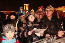 Zpívání koled na náměstí Přemysla Otakara II.