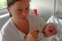 Lucie Vařilová, Dříteň, 23. 6. 2008 v 11.37 h, 3,05 kg
