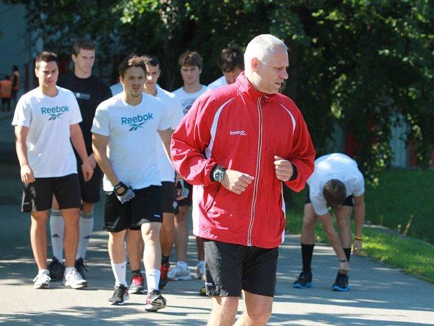 Trenér Peter Draisaitl vede přípravu HC Mountfield.