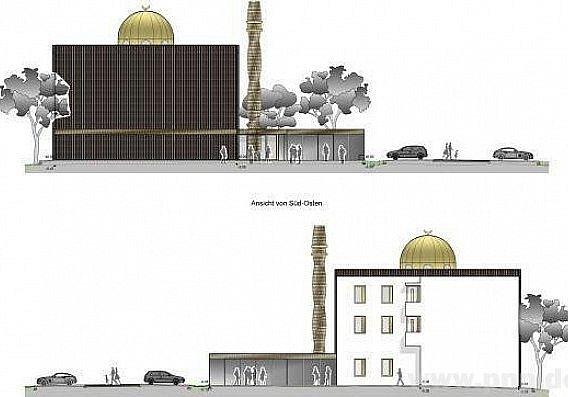 Tak má vypadat mešita vDeggendorfu.