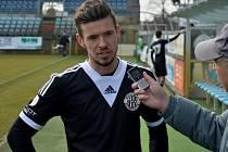 Filip Vaněk po zápase Dynama s Č. Krumlovem odpovídá na dotazy Deníku jižní Čechy.