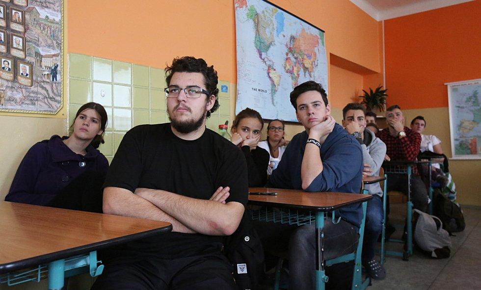 Studenti Vodňanské střední školy si vyzkoušeli zneškodnit teroristu