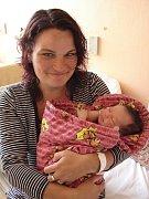Lucie Davidová, České Budějovice, 15. 8. 2008 ve 20.25 h, 3,45 kg