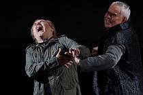 Hudební divadlo v rakouském Linci nastudovalo Wagnerovy Nibelungy. Téměř pětihodinový Soumrak bohů proměnilo v napínavý a dynamický útvar. Na snímku zleva Lars Cleveman jako Siegfried a Albert Pesendorfer jako Hagen.
