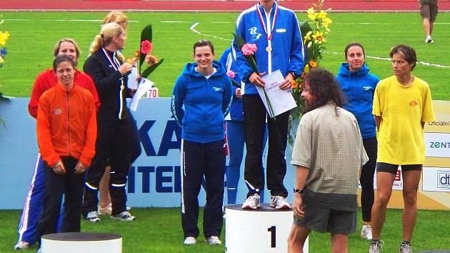 Lucie Sekanová (Sokol ČB) má další titul. Jihočeská atletka zvítězila na mistrovství České republiky na trati 3000 metrů překážek stylem start – cíl.