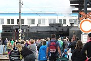 Budějovické nádraží zaplnilo v sobotu na Národní den železnice pár tisíc návštěvníků.