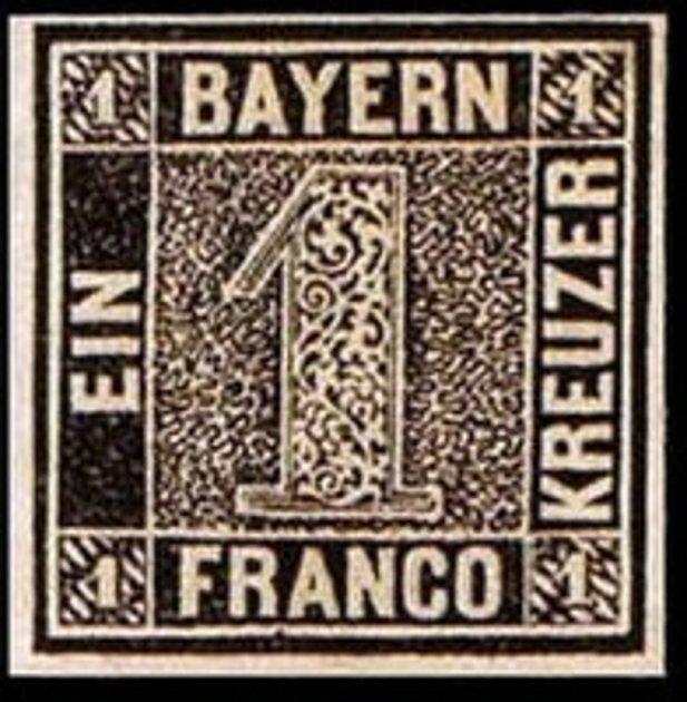 Nejstarší německá známka.