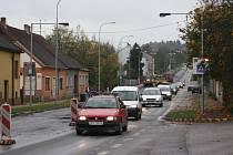 Oprava silnice v Lišově je rozdělena do několika etap.