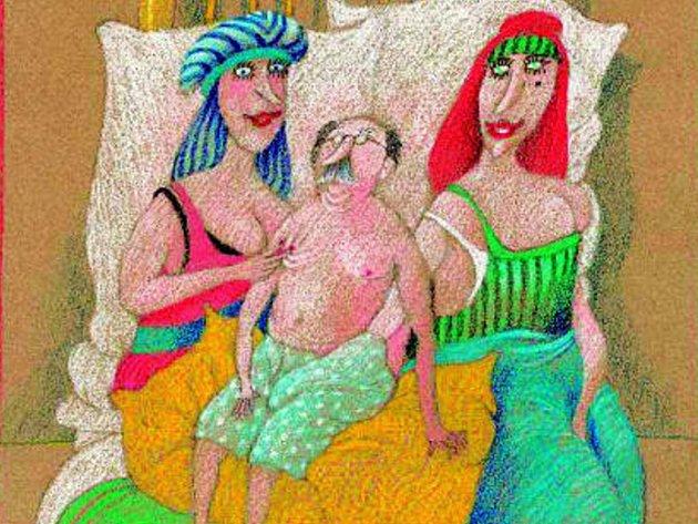 EROTIKON. Ilustrační kresba knihy Tomáše Paula.