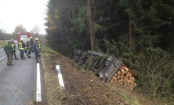 Místo nehody českého řidiče.