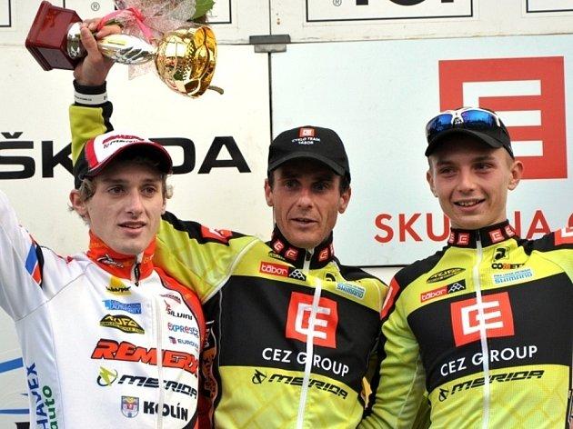 V Kolíně vyhráli zleva: Tomáš Paprstka, Martin Bína a Michael Boroš