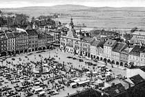 Tehdejší Masarykovo náměstí kolem roku 1936.