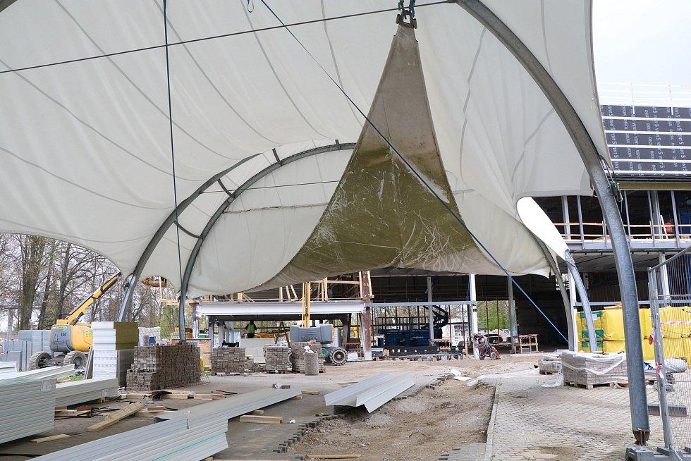 Stavební práce na českobudějovickém Výstavišti
