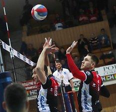 Volejbalové utkání mezi Jihostrojem a Ústím nad Labem