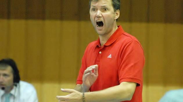 Trenér českobudějovického celku Petr Brom.
