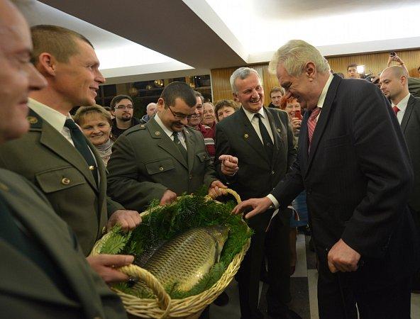 Návštěva prezidenta Miloše Zemana vTřeboni.