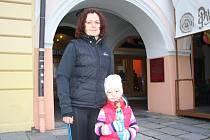 Při sobotním závodu podporovala Lucii Sirovou i dcera Nikolka.