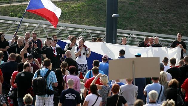 Z budějovických protestů.
