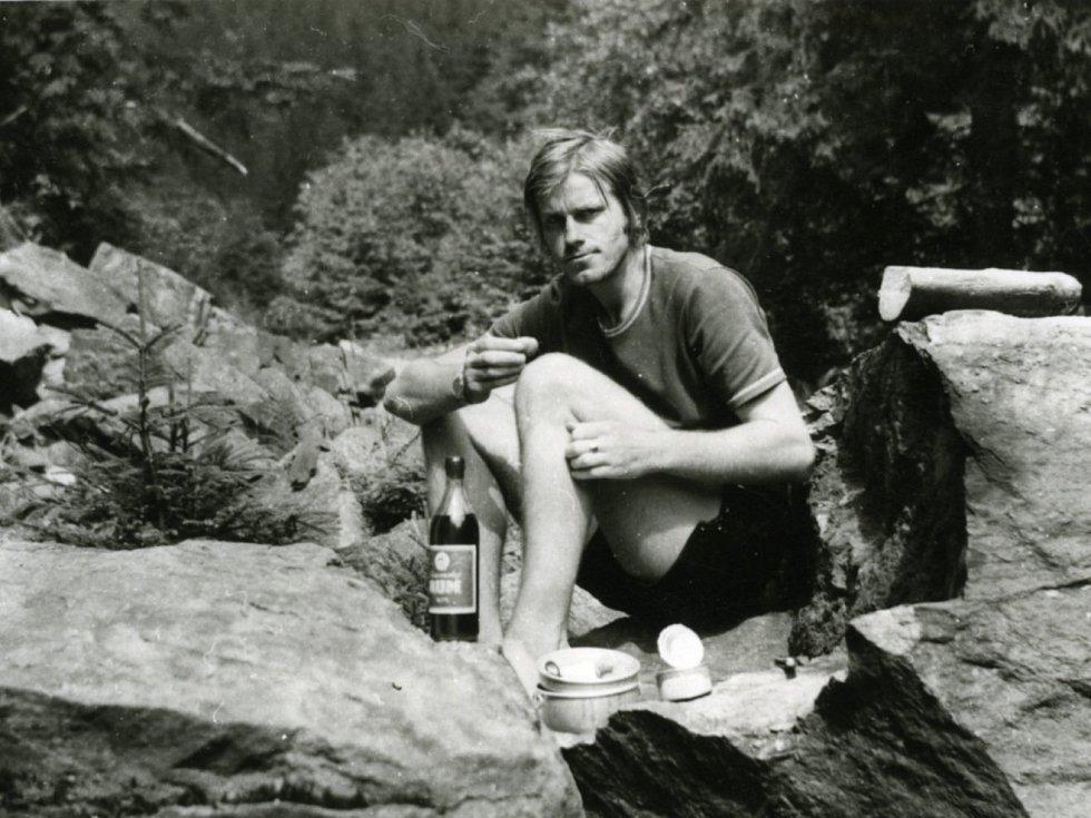 Spisovatel Miroslav Hule zamlada ve Slovenském ráji.