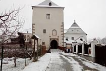 Nové Hrady v zimě.