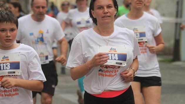 Dm rodinný běh na tři kilometry v Českých Budějovicích.